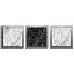 Jackson Wright WBW Burl Essence Silver 38in x 12in Contemporary Style Wood Wall Art