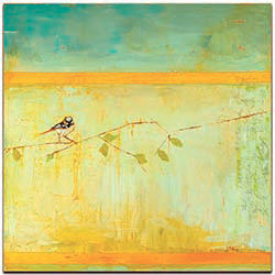 Bird with Horizontal Stripes by Janice Sugg - Contemporary Wall Art on Metal or Plexiglass