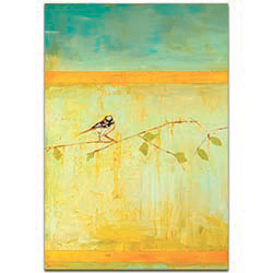 Bird with Horizontal Stripes v2 by Janice Sugg - Contemporary Wall Art on Metal or Plexiglass