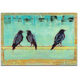 Contemporary Wall Art Crow Bar 2 - Urban Birds Decor on Metal or Plexiglass