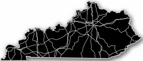 Kentucky - Acrylic Cutout State Map - Black/Grey USA States Acrylic Art
