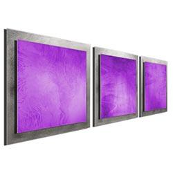 Violet Essence - Layered Modern Metal Wall Art