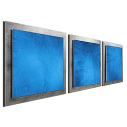 Blue Essence - Layered Modern Metal Wall Art
