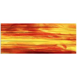 Momentum - Orange Streak Abstract Metal Wall Art