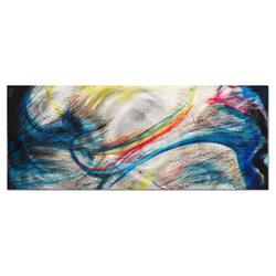 Grace & Virtue - Blue Vibrant Abstract Wall Art