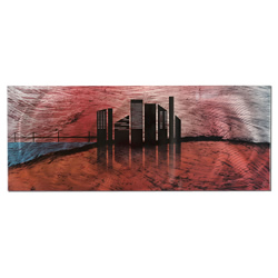 City Silhouette - Sunset Cityscape Abstract Art