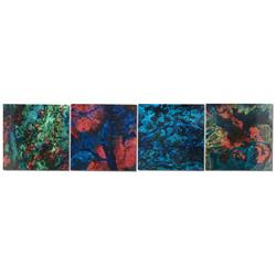 Bright Lights - Neon Paint-Splatter Abstract Art