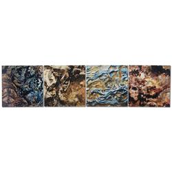 Mother Earth - Earth Tones 4-panel Wall Art