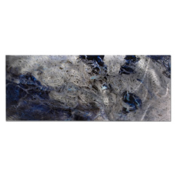 Storm Color - Swirling Blue Abstract Metal Art