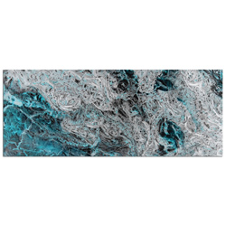 Storm Turquoise - Contemporary Metal Wall Art
