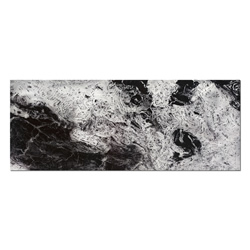 Storm Black & White - Swirling Black Abstract Art