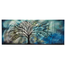 Moonlight Serenade - Moolight Tree Landscape Art