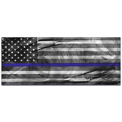 Police Officer Flag American Glory Police Tribute - Policemen Art on Metal or Acrylic