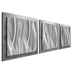 Metallic Essence - Rippled Grind Pattern Metal Art