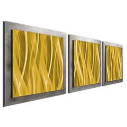 Gold Essence - Layered Modern Metal Wall Art