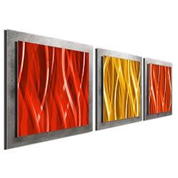 Warm Essence - Layered Modern Metal Wall Art