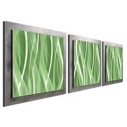 Mint Essence - Layered Modern Metal Wall Art