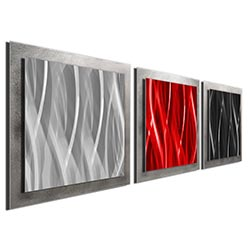 Red Black Silver Essence - Contemporary Metal Art