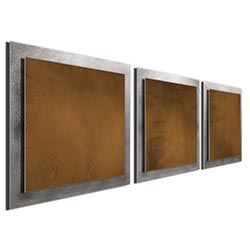 Brown Essence - Layered Modern Metal Wall Art