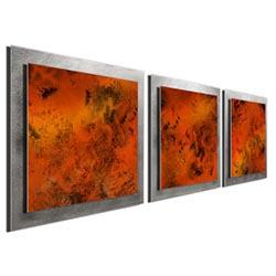 Molten Essence - Layered Modern Metal Wall Art