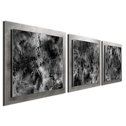 Slate Essence - Layered Modern Metal Wall Art