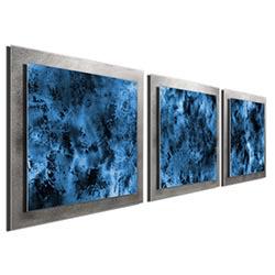 Storm Essence - Layered Blue/Silver Metal Art