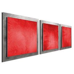 Red Essence - Layered Modern Metal Wall Art