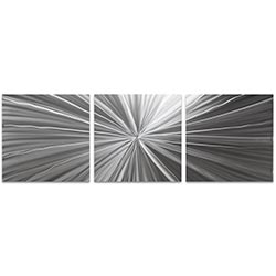 Tantalum Triptych 38x12in. Metal or Acrylic Contemporary Decor