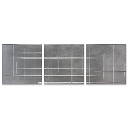Lattice Triptych Large 70x22in. Metal or Acrylic Minimalistic Decor