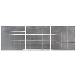 Lattice Triptych 38x12in. Metal or Acrylic Minimalistic Decor