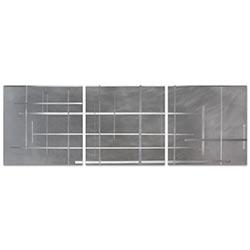 Lattice Triptych 38x12in. Metal or Acrylic Minimalistic Decor