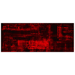 Aporia Red - Contemporary Metal Wall Art