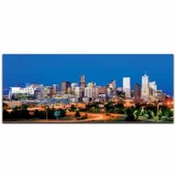 Denver City Skyline - Urban Modern Art, Designer Home Decor, Cityscape Wall Artwork, Trendy Contemporary Art