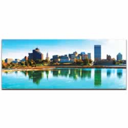 Memphis City Skyline - Urban Modern Art, Designer Home Decor, Cityscape Wall Artwork, Trendy Contemporary Art