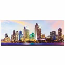 San Diego City Skyline - Urban Modern Art, Designer Home Decor, Cityscape Wall Artwork, Trendy Contemporary Art