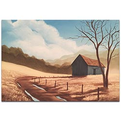 Western Art Prairie Life Black and White - Rustic Decor on Metal or Acrylic