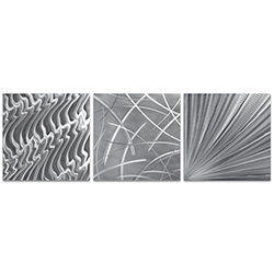 Countless v2 Triptych Large 70x22in. Metal or Acrylic Contemporary Decor