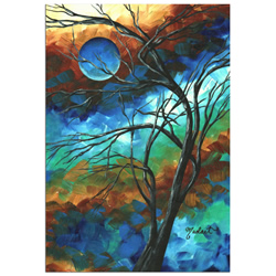 Mystery of the Moon - Abstract Painting Print by Megan Duncanson