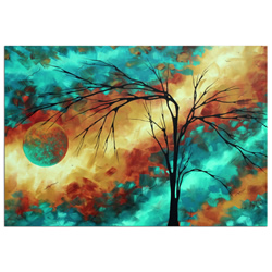 Reaching for the Moon - Abstract Painting Print by Megan Duncanson
