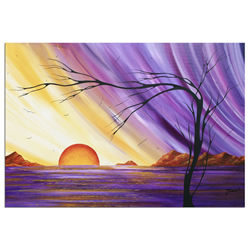 Royal Sunset - Abstract Painting Print by Megan Duncanson