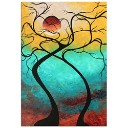 Twisting Love III - Abstract Painting Print by Megan Duncanson