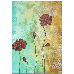 Flower Painting Poppy Love - Abstract Flower Art on Metal or Acrylic
