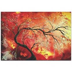 Landscape Painting Fresh Blossoms - Abstract Tree Art on Metal or Acrylic