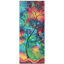 Landscape Painting Colored Inspiration - Abstract Tree Art on Metal or Acrylic
