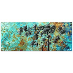 Landscape Painting Spring Blooms - Abstract Tree Art on Metal or Acrylic