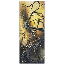 Landscape Painting Winter Blossom - Abstract Tree Art on Metal or Acrylic