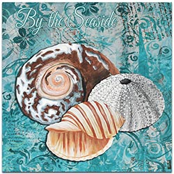 Beach Decor By the Seaside - Coastal Bathroom Art on Metal or Acrylic