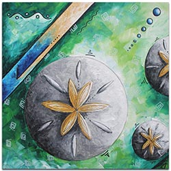 Abstract Beach Art Sand Dollar - Coastal Decor on Metal or Acrylic