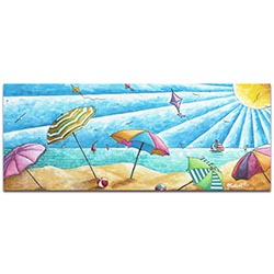 Beach Painting Beach Life v2 - Tropical Wall Art on Metal or Acrylic