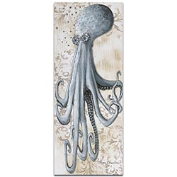 Modern Beach Decor Depths of the Sea v2 - Coastal Bathroom Art on Metal or Acrylic